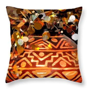 Throw Pillow featuring the digital art Southwest Vase Art by Gary Baird