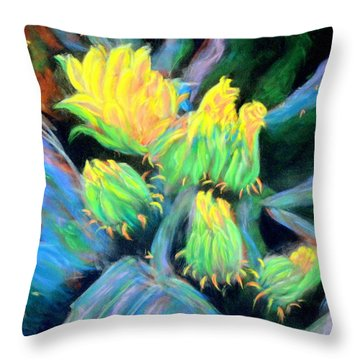 Southwesterly Cactus Impression Of.....sold Throw Pillow
