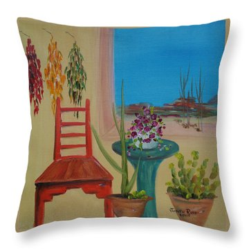 Throw Pillow featuring the painting Southwestern 6 by Judith Rhue