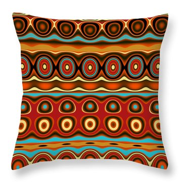 Southwestern Colors Pattern Throw Pillow by Jessica Wright