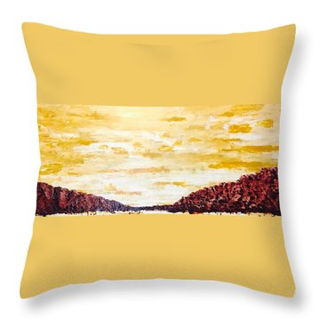 Southwestern Mountain Range Throw Pillow