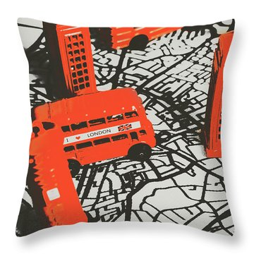 Souveniring Capital England  Throw Pillow