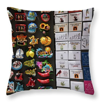 Souvenirs Throw Pillow