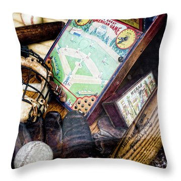 Souvenirs From Baseball Past  Throw Pillow