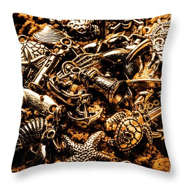 Souvenirs From Sandy Sea Tours Throw Pillow