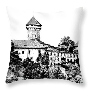 Sovinec - Castle Of The Holy Order Throw Pillow by Michal Boubin