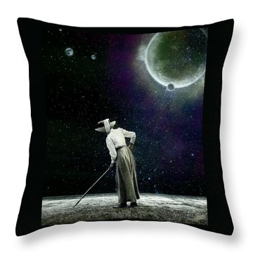 Throw Pillow featuring the digital art Sow What by Delight Worthyn