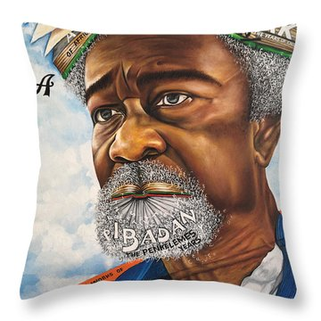 Soyinka An African Literary Icon Throw Pillow