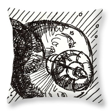 Space 1 2015 - Aceo Throw Pillow