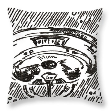 Space 2 2015 - Aceo Throw Pillow