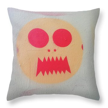 Throw Pillow featuring the photograph Space Alien by Art Block Collections