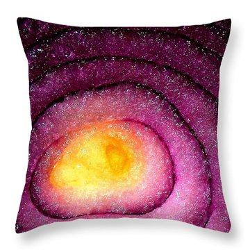 Space Allium Throw Pillow