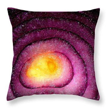 Space Allium Throw Pillow by Danielle R T Haney