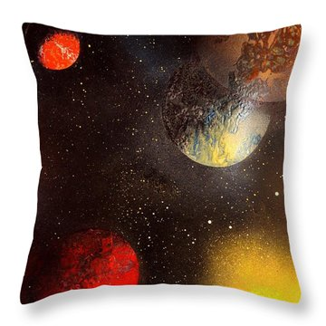Space Balls Throw Pillow