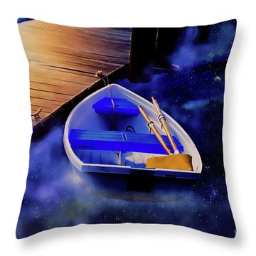Space Boat Throw Pillow