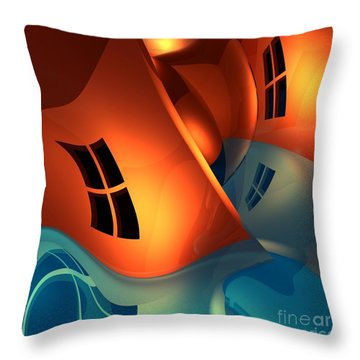 Space Curvature Throw Pillow