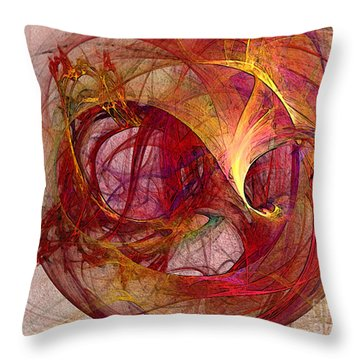 Space Demand Abstract Art Throw Pillow