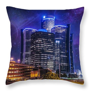 Throw Pillow featuring the photograph Space Detroit by Nicholas  Grunas