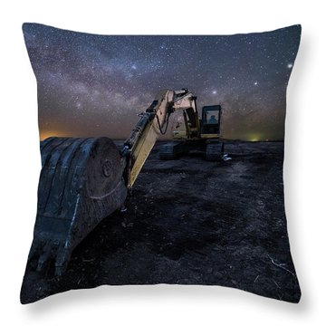 Throw Pillow featuring the photograph Space Excavator  by Aaron J Groen