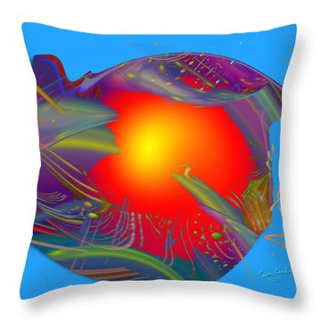 Space Fabric Throw Pillow