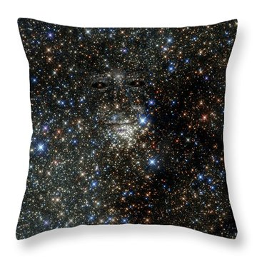 Space Face  Throw Pillow