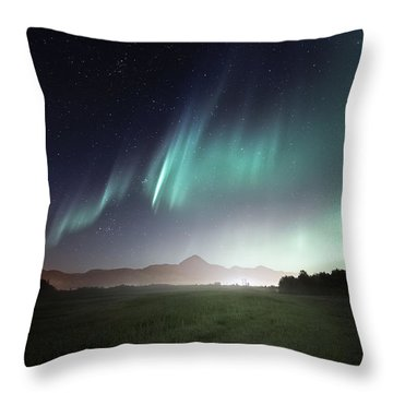 Space Farm Throw Pillow