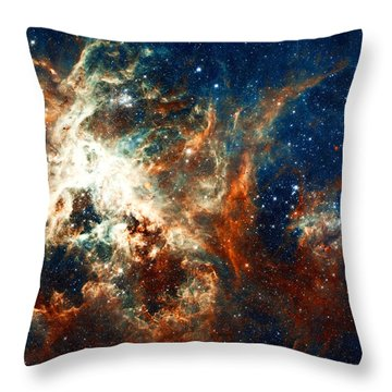 Space Fire Throw Pillow