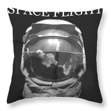 Throw Pillow featuring the photograph Space Flight by David Lee Thompson