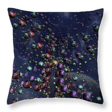 Space Geometry Throw Pillow
