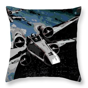 Space Throw Pillow by George Pedro