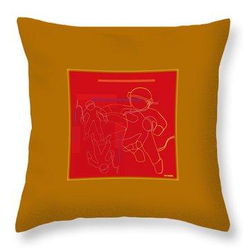 spACE HOP Throw Pillow by Tony Adamo
