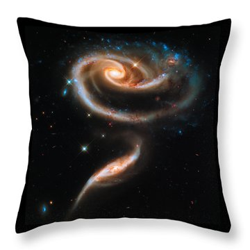 Space Image Galaxy Rose Throw Pillow