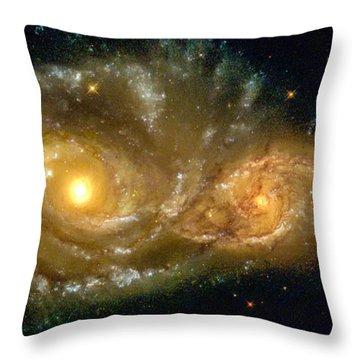 Space Image Spiral Galaxy Encounter Throw Pillow