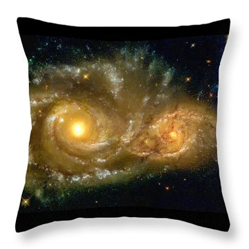 Space Image Spiral Galaxy Encounter Throw Pillow