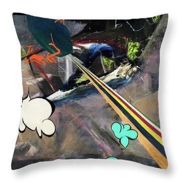Space Immigrants  Throw Pillow by Antonio Ortiz