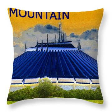 Space Mountain Throw Pillow