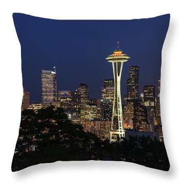 Throw Pillow featuring the photograph Space Needle by David Chandler