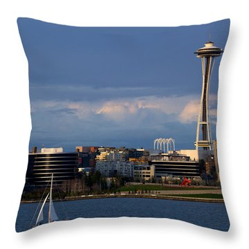 Throw Pillow featuring the photograph Space Needle by Evgeny Vasenev