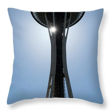 Throw Pillow featuring the photograph Space Needle by Michael Hope