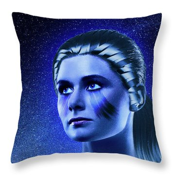 Space Odyssey Throw Pillow by Scott Meyer