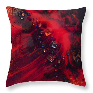 Space Poppies Throw Pillow