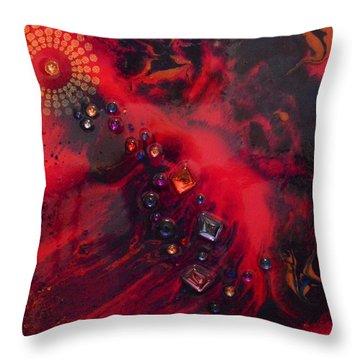 Space Poppies Throw Pillow