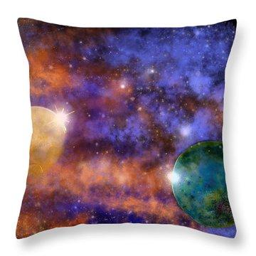 Space Practice Throw Pillow