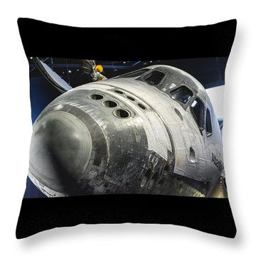 Space Shuttle Atlantis Throw Pillow by David Collins
