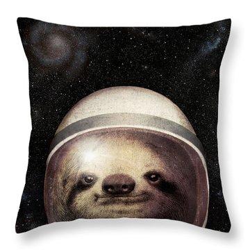Space Sloth Throw Pillow
