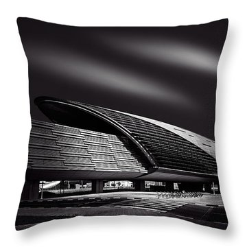Dubai Metro Station Mono Throw Pillow