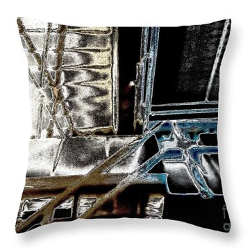 Space Station Throw Pillow by Marsha Heiken