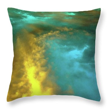 Space Sunset Throw Pillow