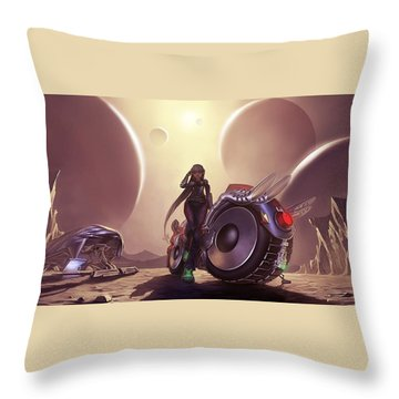 Space The Final Frontier Throw Pillow by Lawrence Christopher