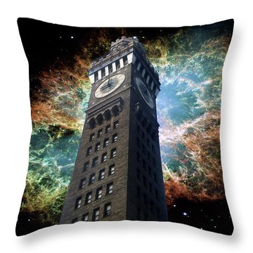 Space-time Throw Pillow by Brian Wallace